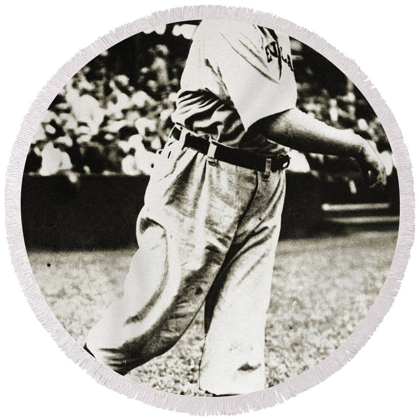 20th Century Round Beach Towel featuring the photograph Cy Young (1867-1955) by Granger