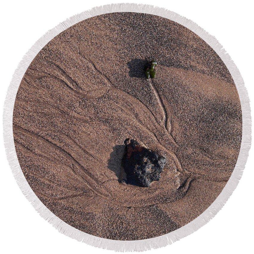 Canary Islands Round Beach Towel featuring the photograph Sandmaps by Jouko Lehto
