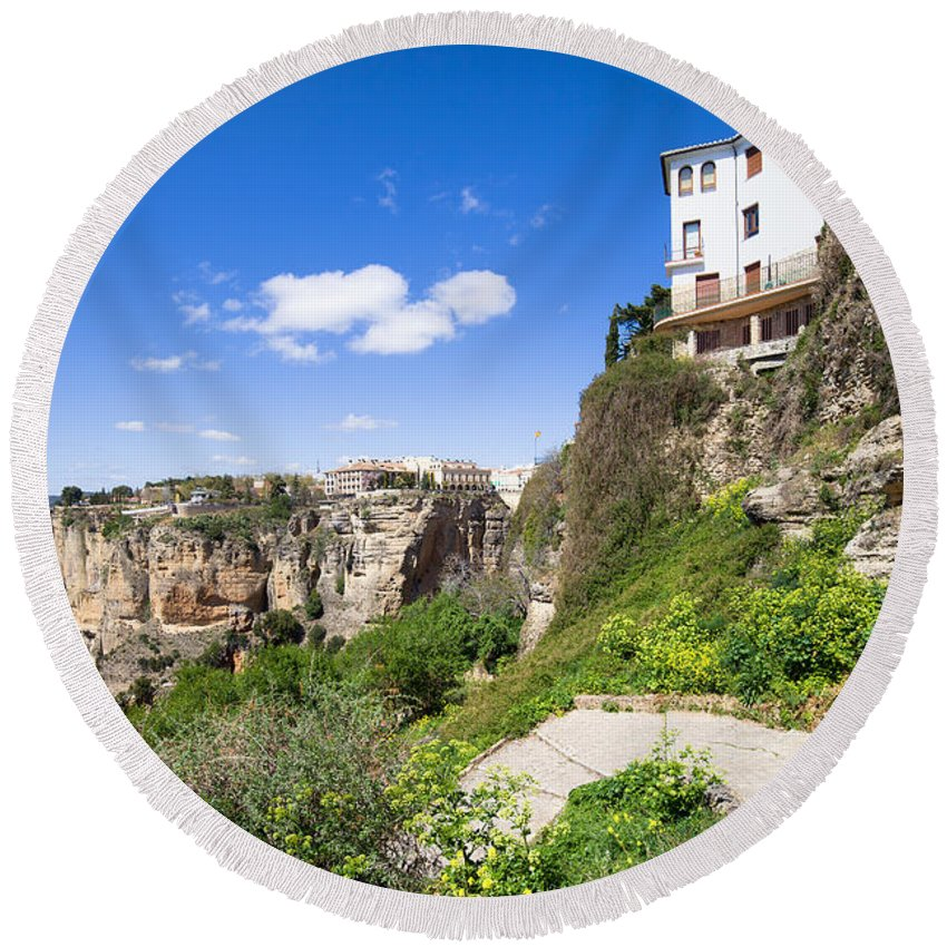 Ronda Round Beach Towel featuring the photograph Andalusia Landscape by Artur Bogacki