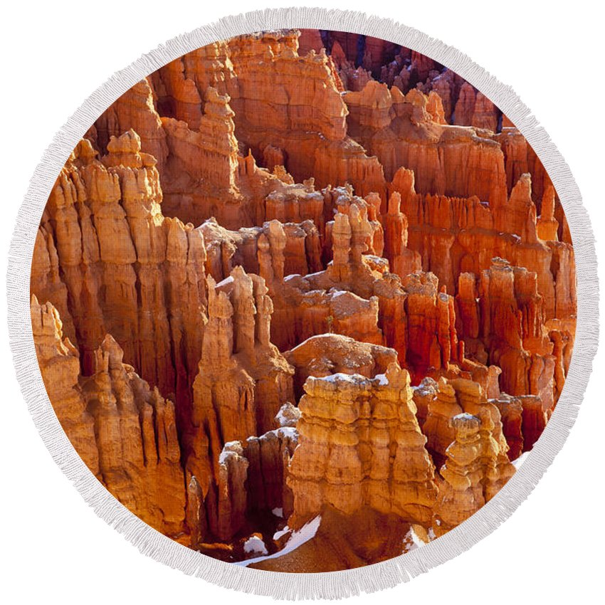 America Round Beach Towel featuring the photograph Bryce Canyon by Brian Jannsen