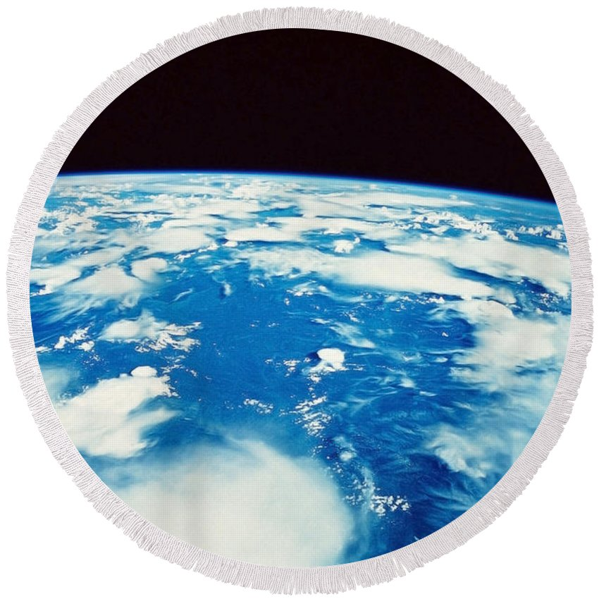Horizontal Round Beach Towel featuring the photograph Earth From Space by Stocktrek Images