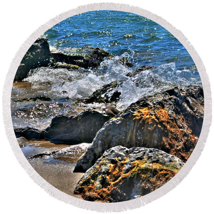 Round Beach Towel featuring the photograph 3 Of Mother Natures Finest Textures by Michael Frank Jr