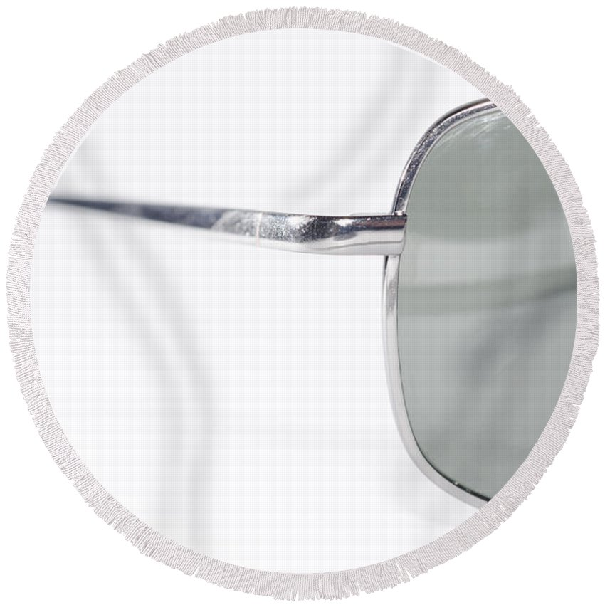 Sunglasses Round Beach Towel featuring the photograph Sunglasses by Mats Silvan