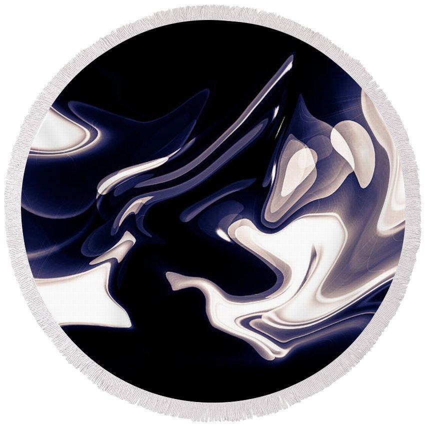 Art Round Beach Towel featuring the digital art Abstract Pattern Art by David Pyatt