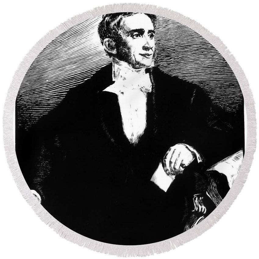 19th Century Round Beach Towel featuring the photograph Charles Goodyear by Granger