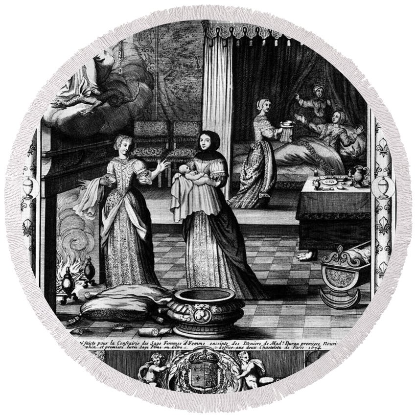 1674 Round Beach Towel featuring the photograph Louis, Dauphin Of France by Granger