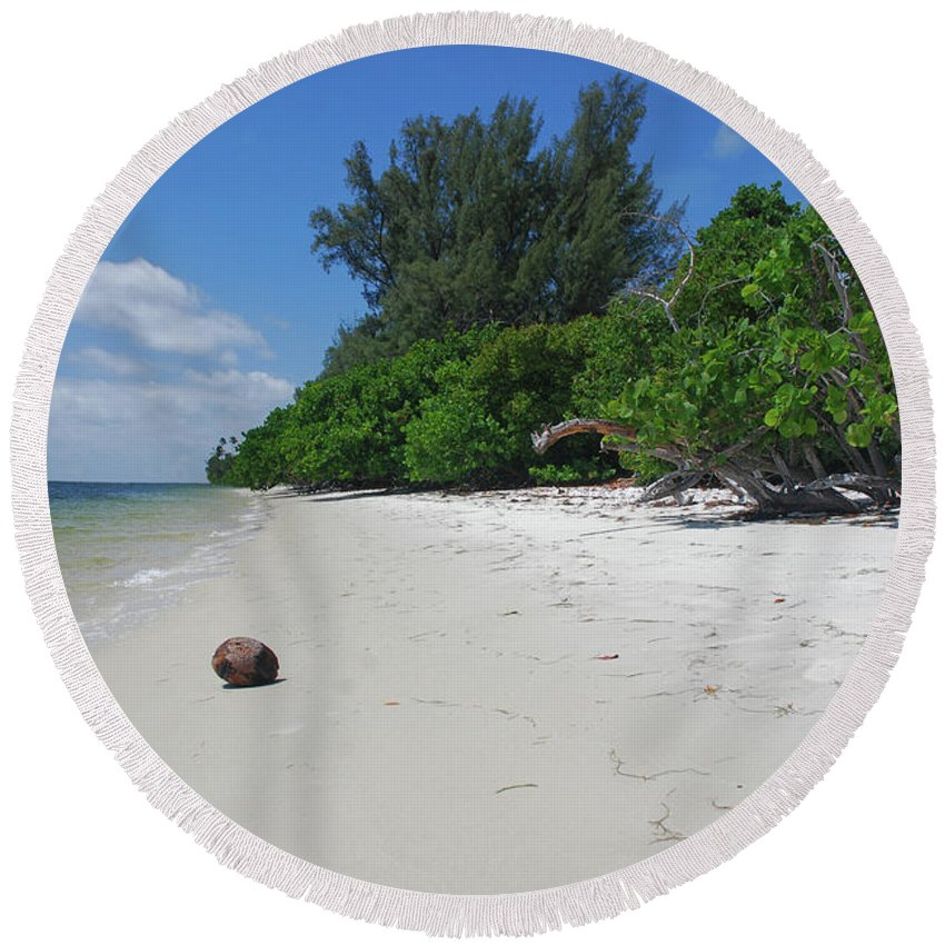 Round Beach Towel featuring the photograph 5- Marooned by Joseph Keane