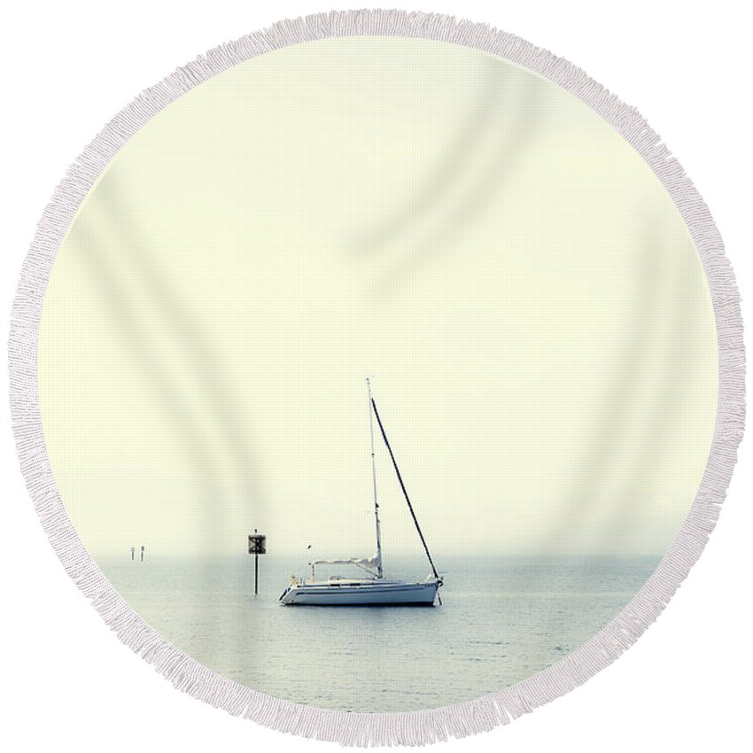 Boat Round Beach Towel featuring the photograph Sailing Boat by Joana Kruse