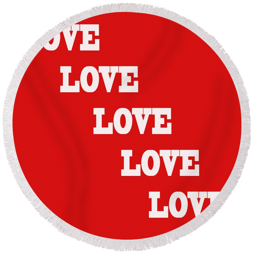 Love Round Beach Towel featuring the photograph 5 Steps Of Love by Paul Ward