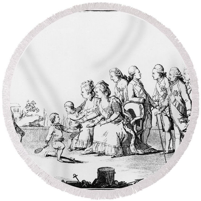 18th Century Round Beach Towel featuring the photograph Catherine II (1729-1796) by Granger