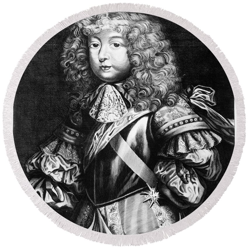 16th Century Round Beach Towel featuring the photograph Louis, Dauphin Of France by Granger