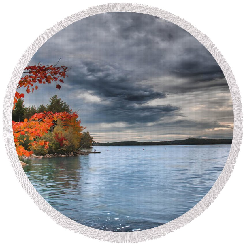 Fall Color Round Beach Towel featuring the photograph After The Rains by Guy Whiteley