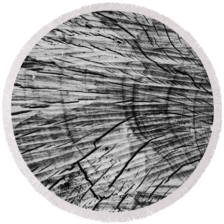 Aged Round Beach Towel featuring the photograph Aged Wood by Scott Hervieux