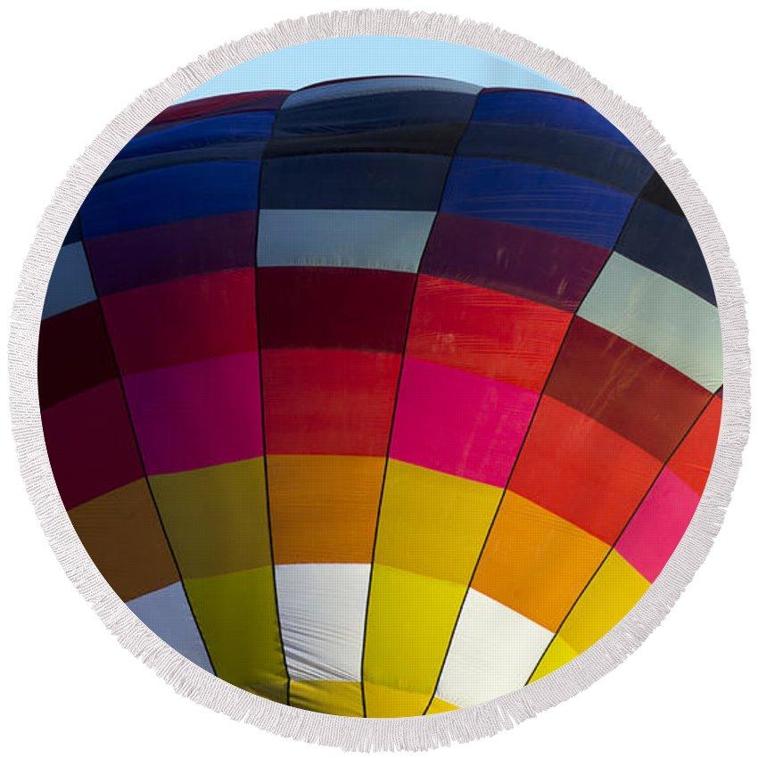 Hot Air Balloon Round Beach Towel featuring the photograph Air Balloon 1554 by Terri Winkler