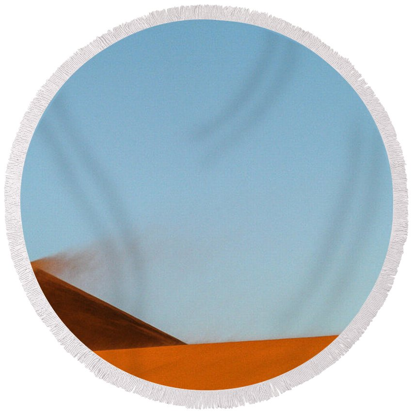 Africa Round Beach Towel featuring the photograph Amber Dust by Alistair Lyne