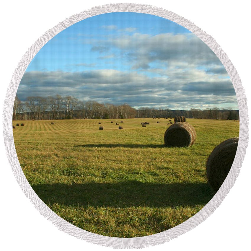 Hay Round Beach Towel featuring the photograph Bales II by Jeff Galbraith