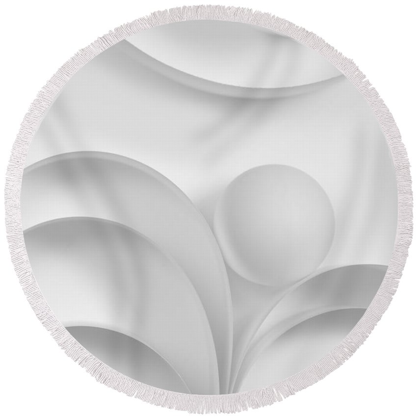 Ball Round Beach Towel featuring the photograph Ball And Curves 03 by Nailia Schwarz