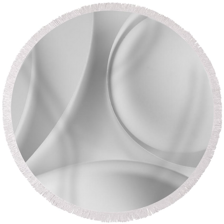 Ball Round Beach Towel featuring the photograph Ball And Curves 09 by Nailia Schwarz