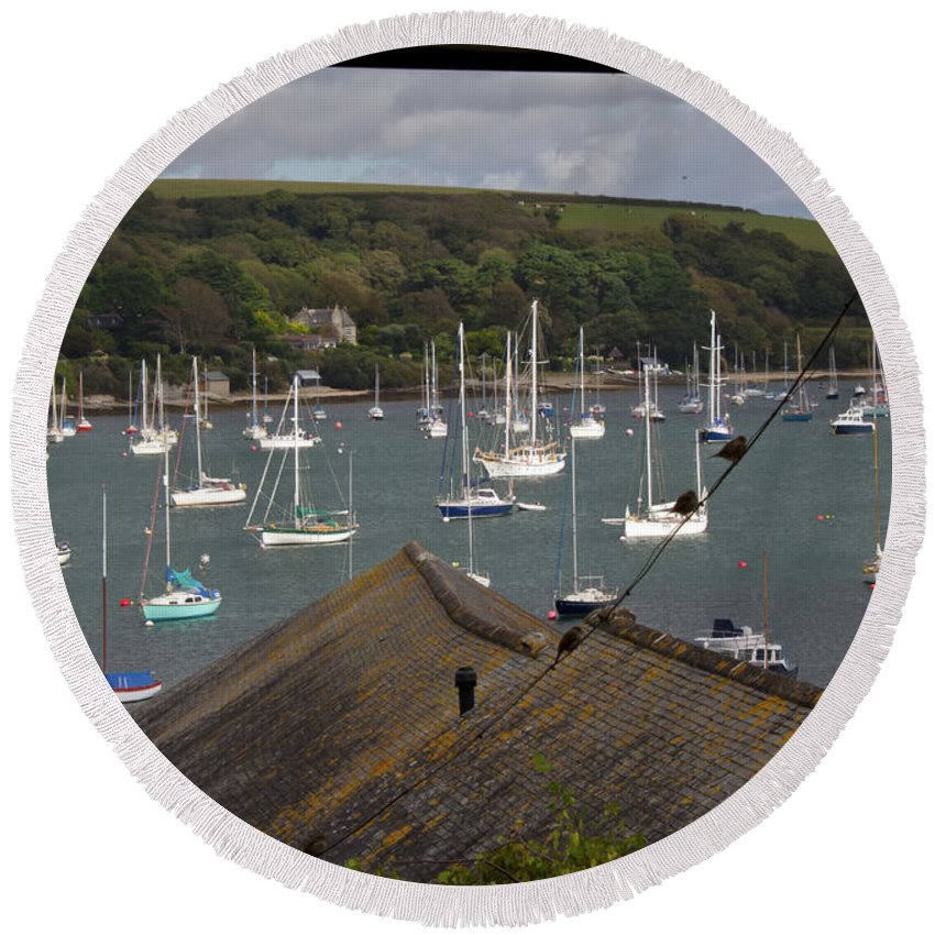 Falmouth Round Beach Towel featuring the photograph Barrack Opp by Brian Roscorla