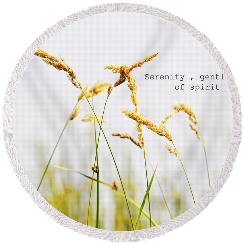Beach Grass Round Beach Towel featuring the photograph Beach Grass .serenity. by Traci Cottingham