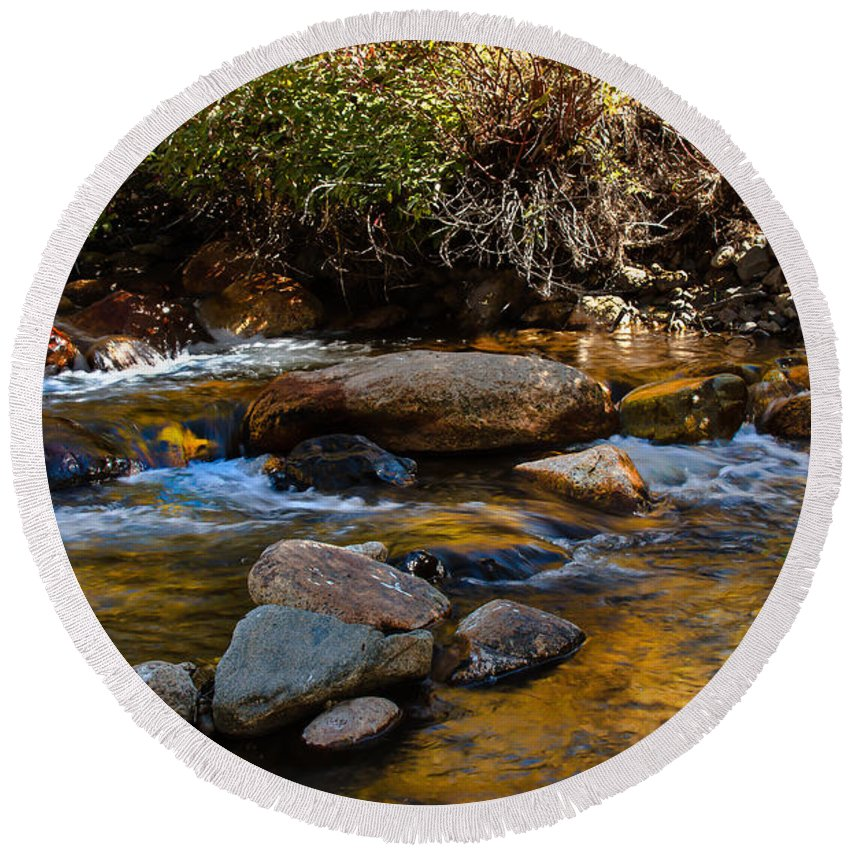 Stream Round Beach Towel featuring the photograph Beautiful Stream by Robert Bales