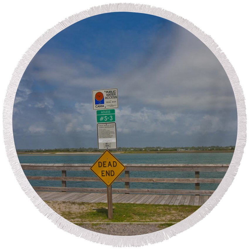 Topsail Round Beach Towel featuring the photograph Beyond The End by Betsy Knapp