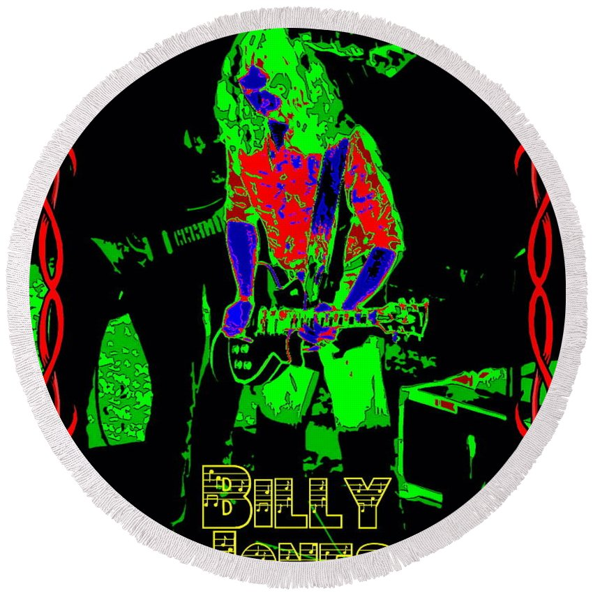 Billy Jones Round Beach Towel featuring the photograph Billy Gets Psychedelic by Ben Upham