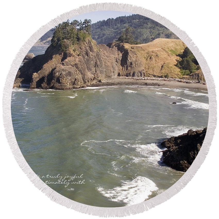 Boardman Round Beach Towel featuring the photograph Boardman State Park by Mick Anderson