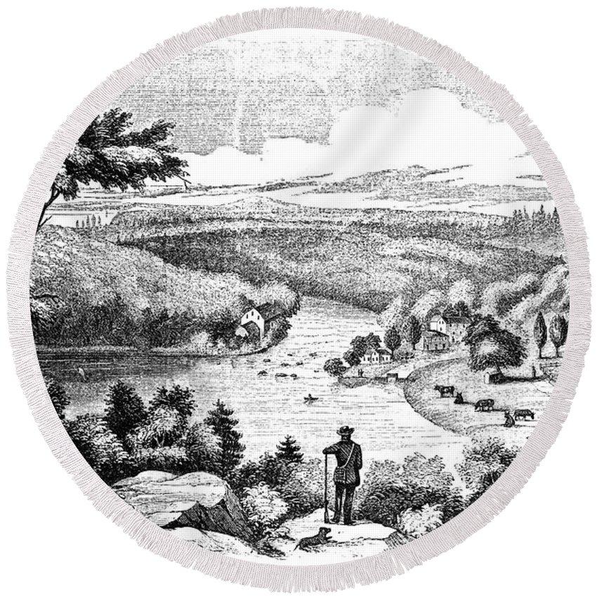 1777 Round Beach Towel featuring the photograph Brandywine Battlefield by Granger