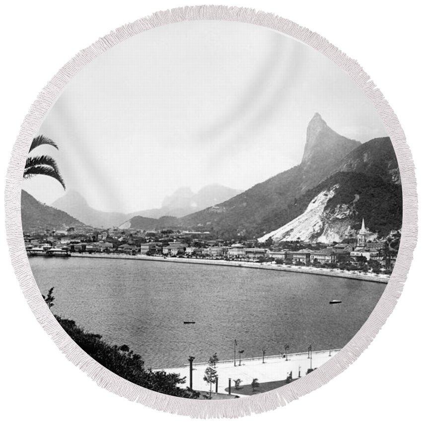 20th Century Round Beach Towel featuring the photograph Brazil: Rio De Janeiro by Granger