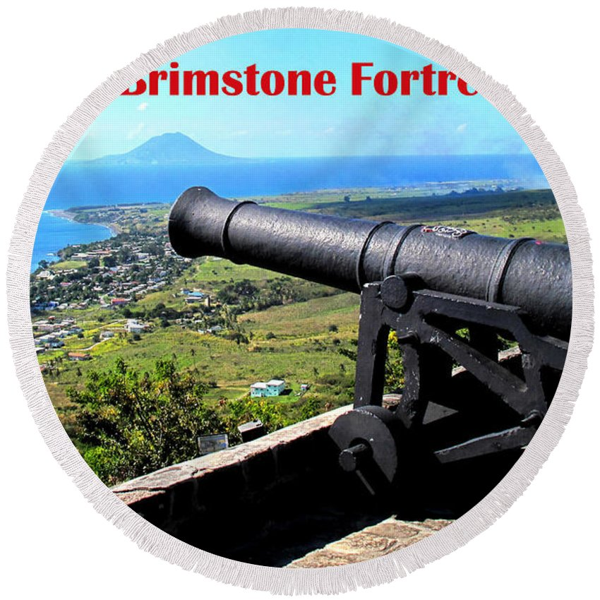 Canon Round Beach Towel featuring the photograph Brimstone Fortress Poster by Ian MacDonald