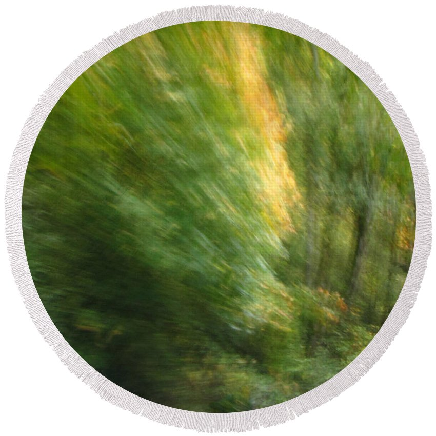 Abstract Landscape Round Beach Towel featuring the photograph Caught Away by Tikvah's Hope