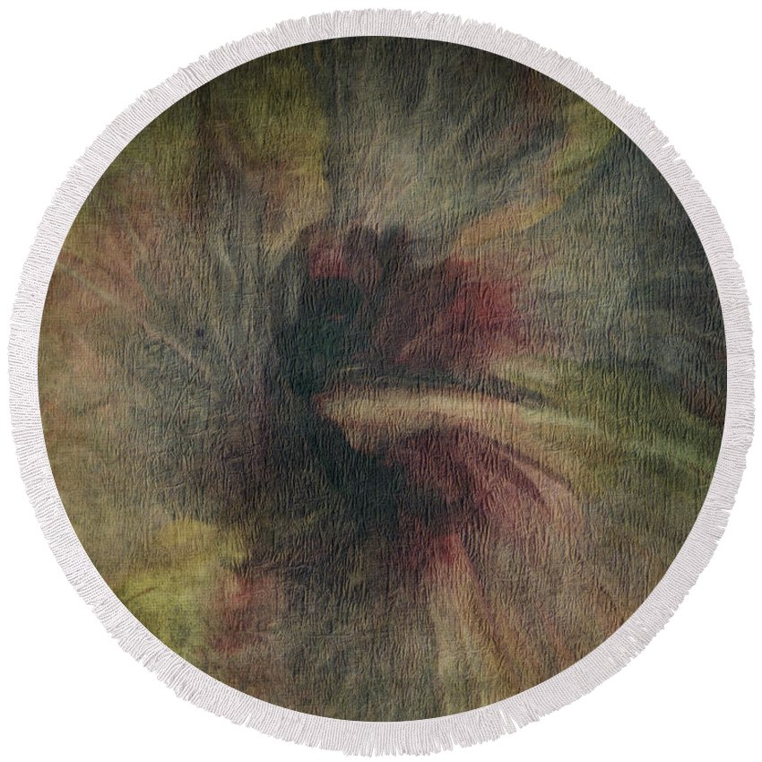 Ce-lo Green Round Beach Towel featuring the photograph Ce-lo by Trish Tritz