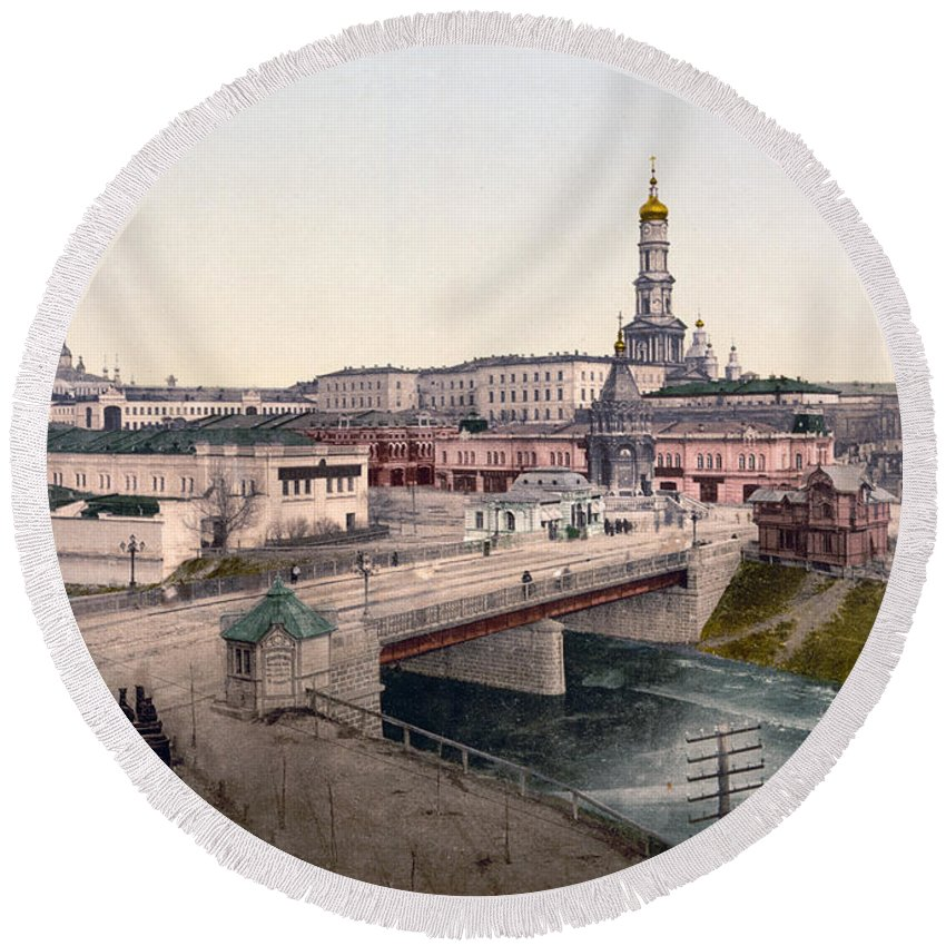 Charkow Round Beach Towel featuring the photograph Charkow - Ie - Kharkiv - Ukraine by International Images