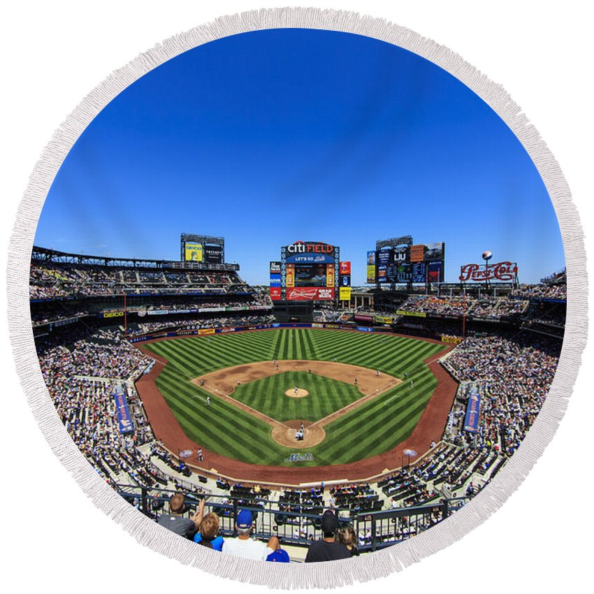 Stadium Round Beach Towel featuring the photograph Citifield by Rick Berk