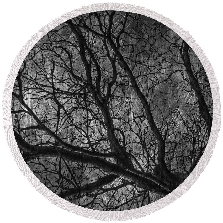 Window Framed Prints Round Beach Towel featuring the photograph Climbing Escaped Scratches by The Artist Project