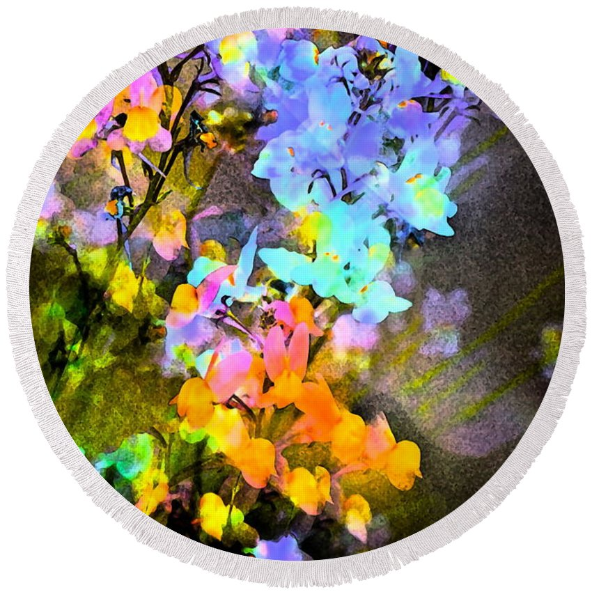 Floral Round Beach Towel featuring the photograph Color 111 by Pamela Cooper