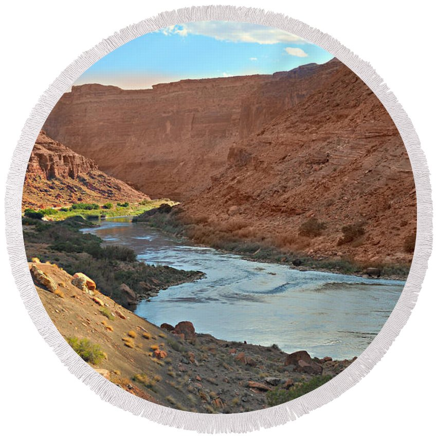 Colorado Round Beach Towel featuring the photograph Colorado River Canyon 1 by Marty Koch