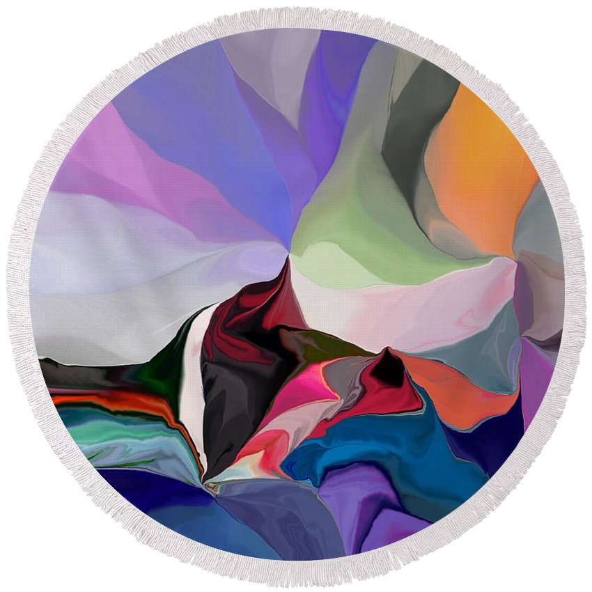 Fine Art Round Beach Towel featuring the digital art Conjuncture by David Lane