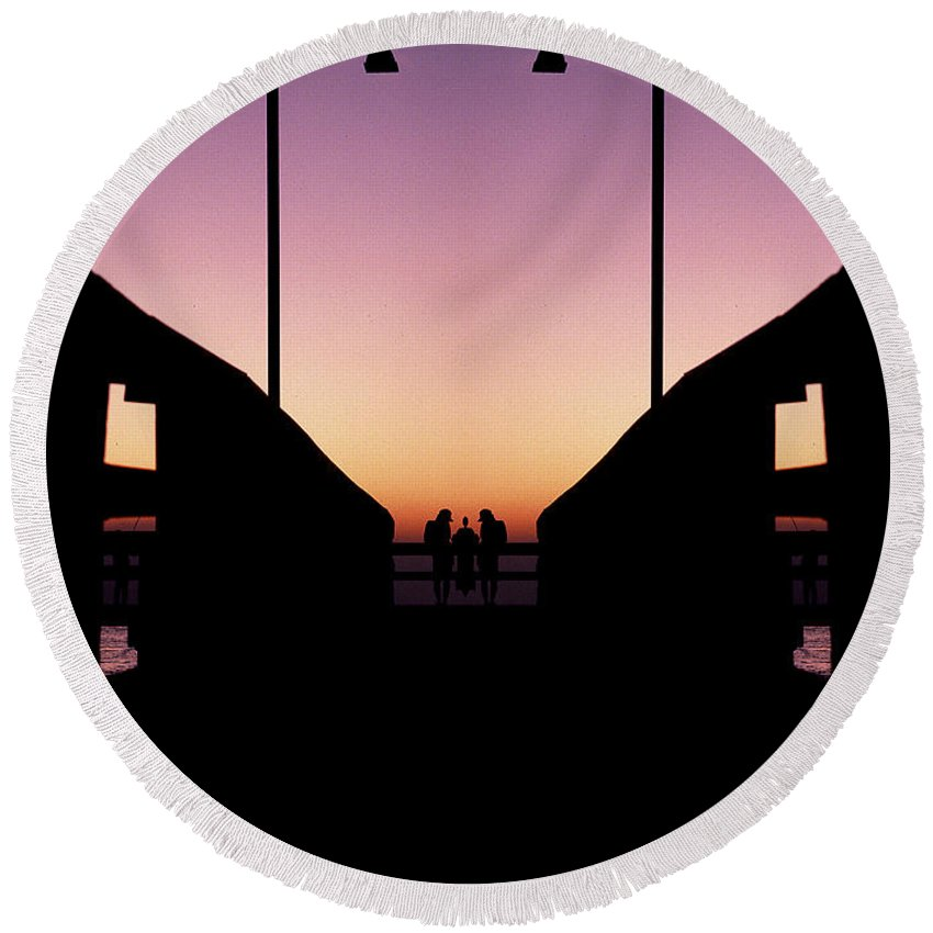 Round Beach Towel featuring the photograph Creation 114 by Mike Nellums