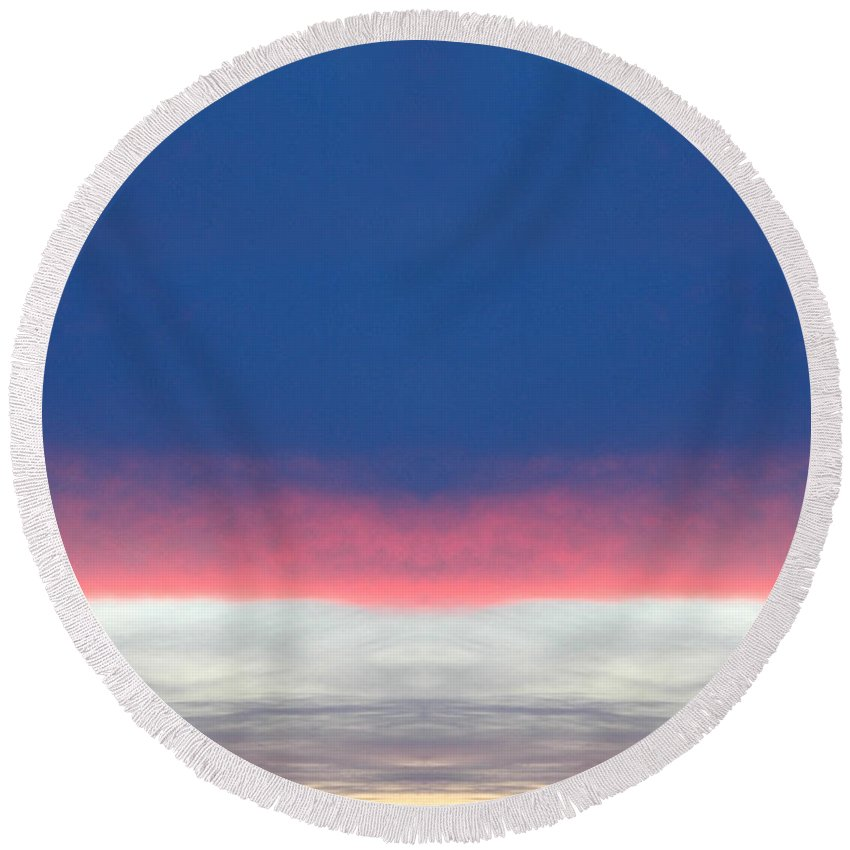 Round Beach Towel featuring the photograph Creation 192 by Mike Nellums