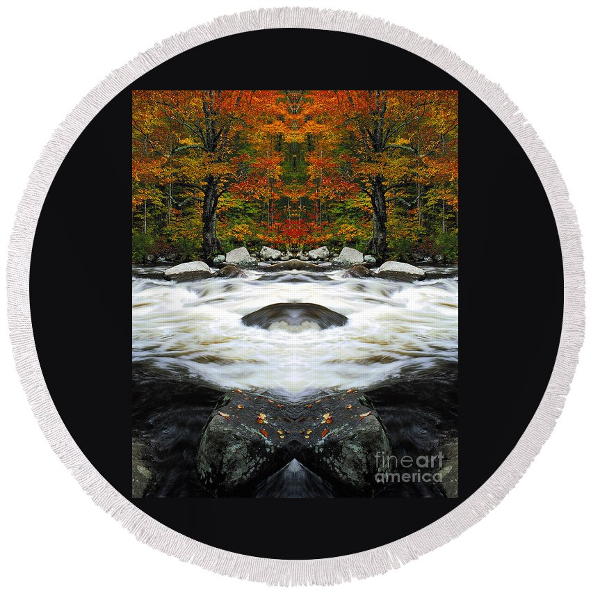Round Beach Towel featuring the photograph Creation 24 by Mike Nellums