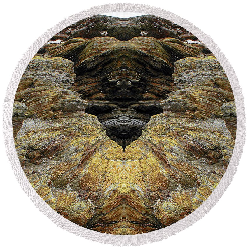 Round Beach Towel featuring the photograph Creation 4 by Mike Nellums