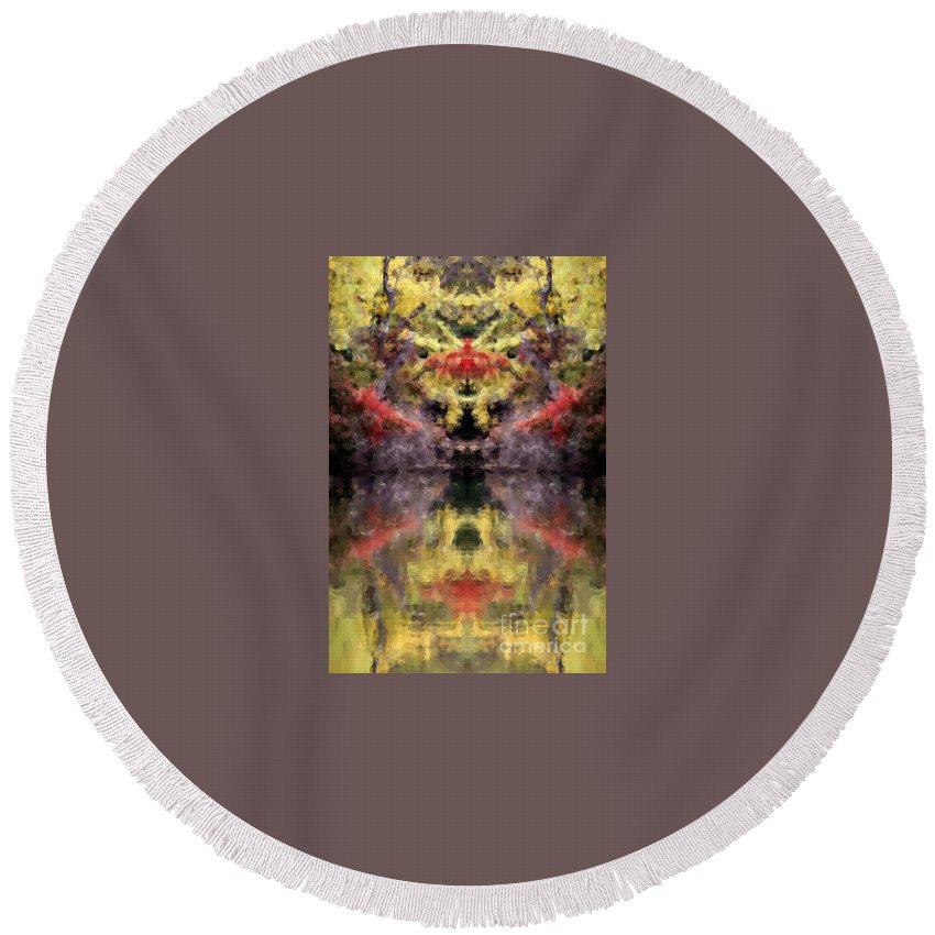 Round Beach Towel featuring the photograph Creation17 by Mike Nellums