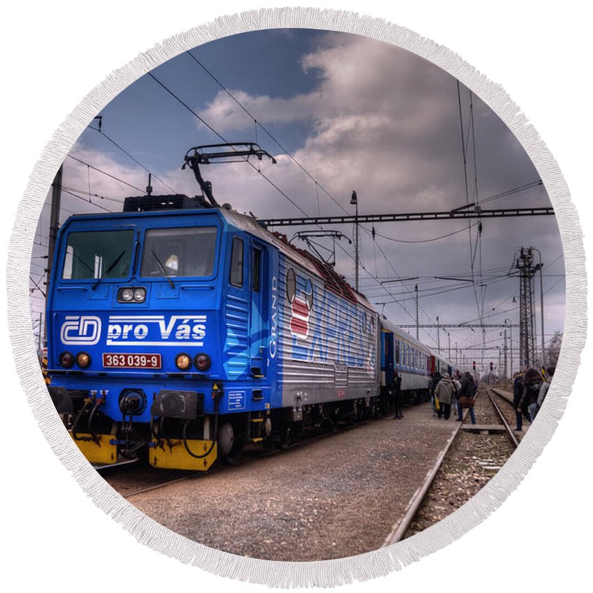 Czech Round Beach Towel featuring the photograph Czech Express by Rob Hawkins