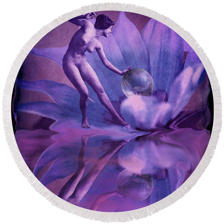Nspirational Round Beach Towel featuring the photograph Dardanella by Arthur Miller