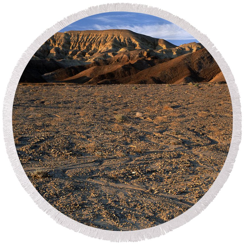 Sandra Bronstein Round Beach Towel featuring the photograph Death Valley by Sandra Bronstein