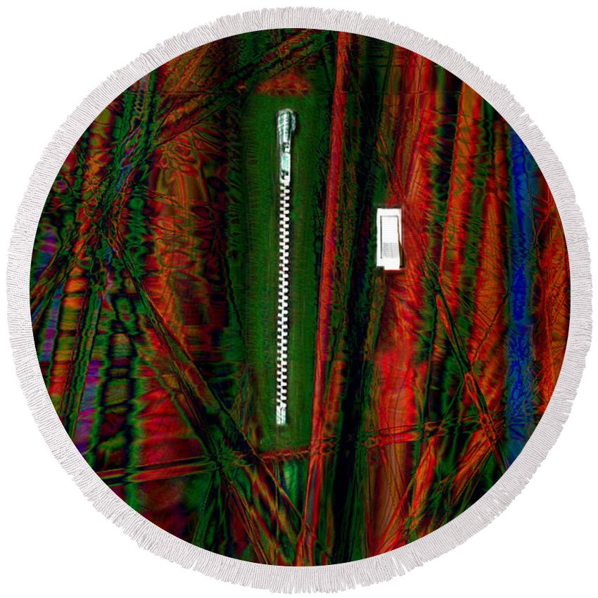 Paula Ayers Round Beach Towel featuring the photograph Decisions No. 1 by Paula Ayers