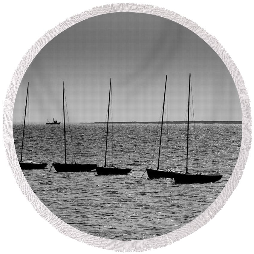 Leigh On Sea Photographs Round Beach Towels