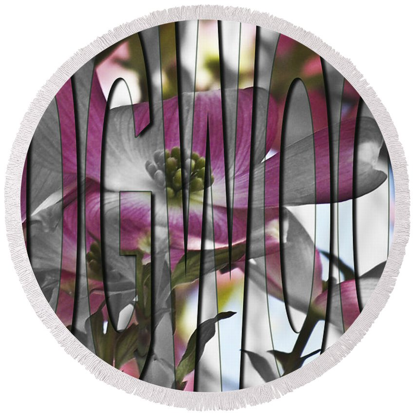 Flower Round Beach Towel featuring the photograph Dogwood by Trish Tritz
